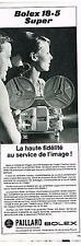 PUBLICITE ADVERTISING  1960    PAILLARD BOLEX  la haute fidèlité   18-5 SUPER