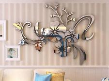 DIY 3D Mirror Flower Art Removable Wall Sticker Acrylic Mural Decal Decoration