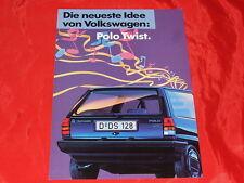 """VW Polo """"Twist"""" Sondermodell Prospekt von 1988"""