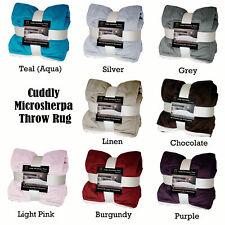 8 Color Choice - Cuddly Microsherpa Sofa Throw Blanket Rug 150 x 170cm
