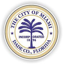 Miami City seal Sticker Round Florida bumper decal Car autocollant Aufkleber