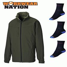 Dickies hartville Impermeable Impermeable chaqueta de abrigo Verde Musgo libre Calcetines