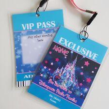 Personnalisé Disney frozenchristmas Anniversaire VIP Gift Pass Lanyard-toute formulation