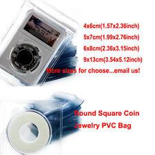 100X Strong Clear Plastic Coin Wallet Storage Envelopes Case Bag Holder Zip Lock