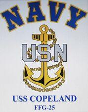 USS COPELAND   FFG-25* FRIGATE* NAVY ANCHOR* SHIRT