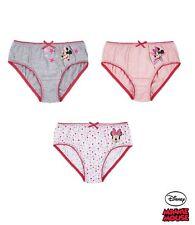 Disney Minnie Mouse Knickers/Brief/Underwear - Girls - Pack of 3