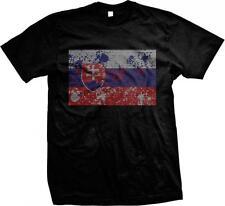 Slovakia Spatter Flag Slovensko Slovenská Republika Slovak Pride Mens T-shirt