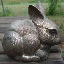 -Bank Rabbit Tirelire Lapin Métal Chromé Yeux sulfure