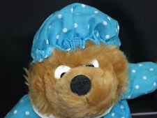 BIG BLUE WHITE POLKADOT BERENSTAIN BEAR MOM MAMA PLUSH CARTOON STUFFED TEDDY
