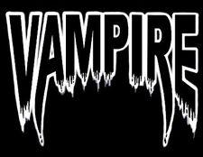 VAMPIRE DRACULA FANGS DRIP BLOOD AT TWILIGHT T-SHIRT E1