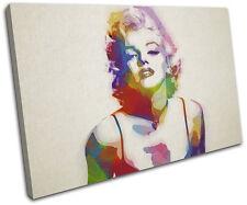 Marylin Monroe Art  Iconic Celebrities CANVAS WALL ART Picture Print VA