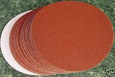 "50p 6"" PSA STICK ON SANDING DISC 120 GRIT DA sand paper"