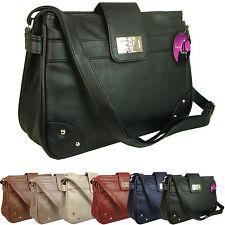 Handbag Small / Medium Across Body Satchel Shoulder Bag Long Strap Flap Zipped