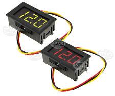 Car Motor LED Display Volt Meter Voltage DC 0-99V Digital Voltmeter Red/Green