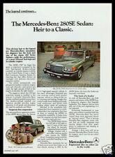 1977 Mercedes Benz 280SE collectible auto print ad