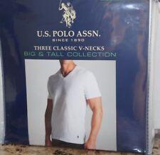 EEUU POLO assn. 3 Cuello Redondo O Camisetas Blanco 2xl 3xl 4xl 100% Algodón