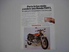 advertising Pubblicità 1977 MOTO HONDA CB 750 F1