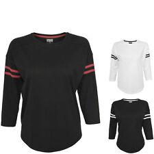 Urban Classics Damen T-Shirt Ladies Sleeve Striped L/S Tee T Shirt  XS S M L XL