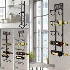 Stockage de support cintre bouteille verre l'étagère murale 5-6 de style vintage