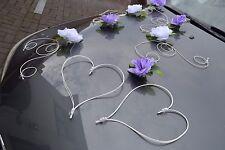 wedding car decorations, SARA, Automobile di cerimonia nuziale  PURPLE / WHITE