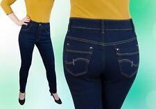 Jeans Hose Damen Jeanshose Gerades Bein Normalsitzend Blau 42 44 46 48 50 Neu
