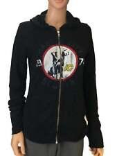 Kansas City Scouts Retro Brand Women Black Quad Blend Zip Up Hoodie Jacket