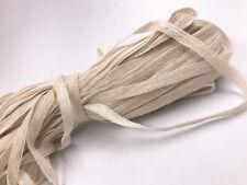 5/10M Natural Jute White Burlap Ribbon Rustic Weddings Strap Decor Floristry10mm