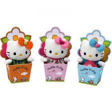 ✿ Hello Kitty Mini Plüsch in Blumentopf, Baby Collection, Glücksbringer - NEU ✿