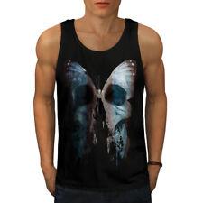 Mariposa cráneo cara Men Camiseta sin mangas Nuevo | wellcoda