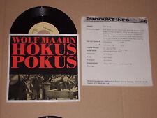 "WOLF MAAHN -Hokus Pokus- 7"" mit Product Facts Promo-Flyer"