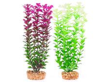 Plastic Plant Small Leaf Purple OR White Small Medium Large