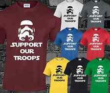 Sostenere le nostre truppe Mens T shirt STAR WARS STORMTROOPER TOP Skywalker FASHION