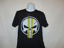 Pittsburgh Steeler Football - Fun Punisher T-Shirt Black Adult Sizes S - 3XL