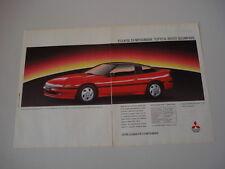 advertising Pubblicità 1992 MITSUBISHI ECLIPSE
