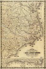 Poster, Many Sizes; Map Of Eastern North Carolina 1863