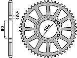 PBR Trasera Ruedas Dentadas Kawasaki Z1000 03 - 12 ERGAL + Duro andodized 520 cadena Mod