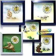 PSV 3D Wild Nature Animal Bird Wall Hall Kitchen Bedroom Kids Room Gift Clock