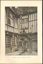 80 ABBEVILLE MAISON FRANCOIS I IMAGE EN COULEURS 1900