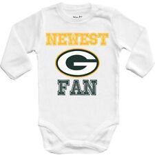 Baby bodysuit Newest fan Green Bay Packers football One Piece jersey