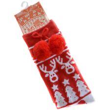 baby knee high pom pom sock-christmas-red