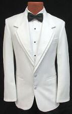 Men's White Oscar de la Renta Contour Tuxedo Dinner Jacket Wedding Mason Cruise
