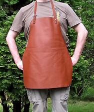 Cuero Genuino Delantal de parrilla marrón coñac, cocina, cuero, babero