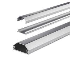 Kabelkanal Kabelkanäle Kabelabdeckung Kabel Abdeckung Kanal silber Aluminium Alu