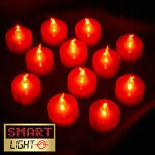 Smartlight Rosso Senza Fiamma LED BATTERIA TEA LIGHT CANDELE TEALIGHTS-KID / PET SAFE