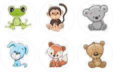 FUN CUTE ANIMAL TEDDY 2 STICKERS CHILD KIDS VINYL DECAL BATH WALL LAPTOP WINDOW