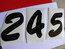 Adesivo numeri numbers auto moto  vynil vinille vetro window sport racing