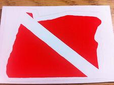 Scuba Dive Bumper Sticker Oregon State Dive Flag DS76-OR