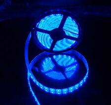 5M 16.4FT 5630 Super Bright Blue LED Waterproof Flexible Strip Light DC 12V Car