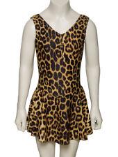 KDR005 Leopard Animal Print Sleeveless Leotard With Skirt Dress Katz Dancewear