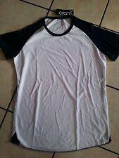 Blue White short sleeve baseball T shirt Crank short sleeve baseball T-shirt XL